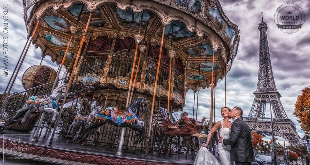 Sesja ślubna w Paryżu - Fotograf ślubny www.fotoslominski.pl